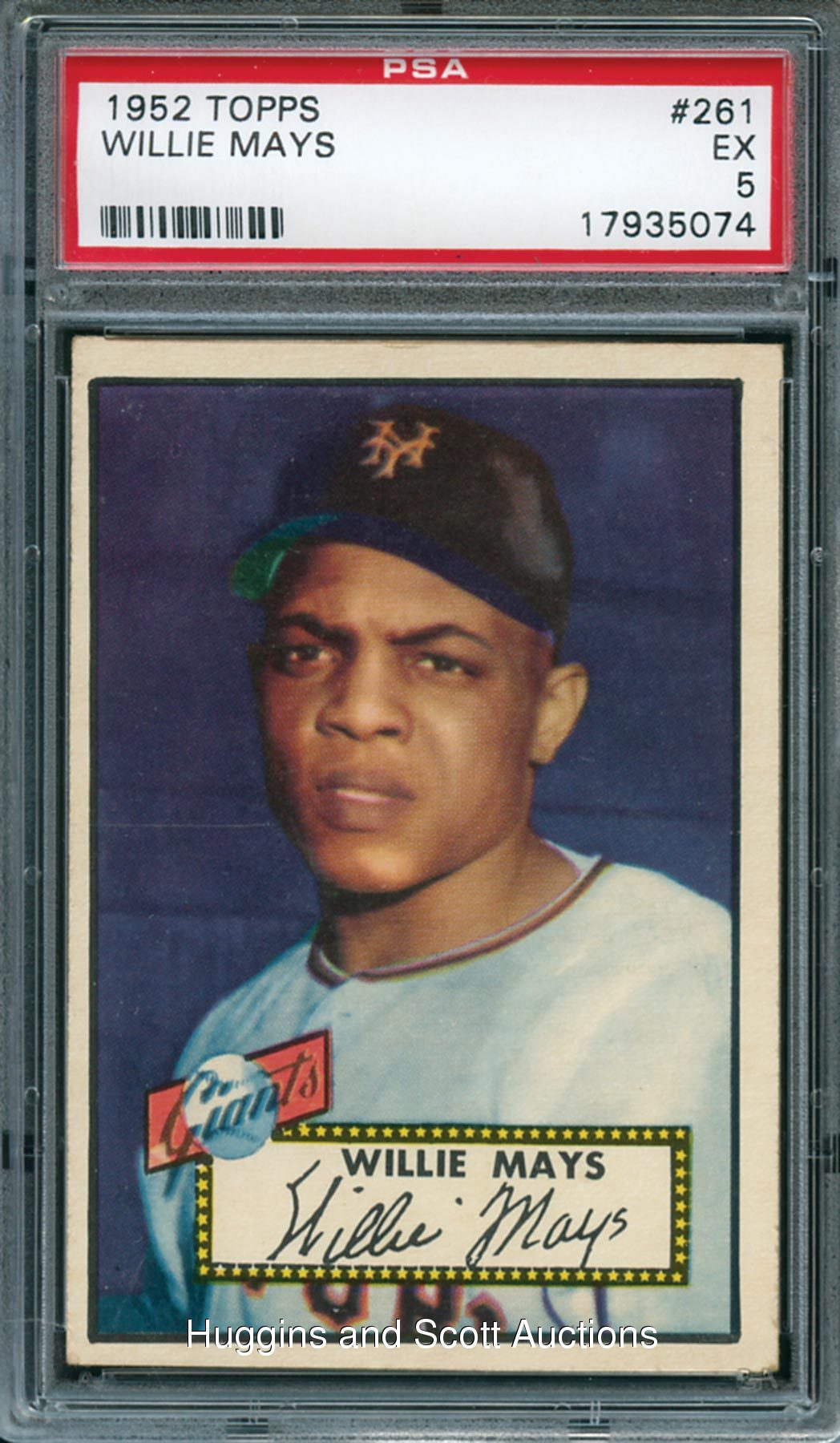 1952 Topps Baseball 261 Willie Mays Psa 5